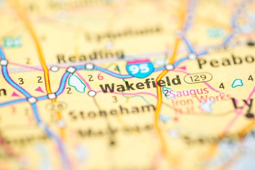 A map of Wakefield Massachusetts