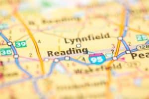 map of Reading Massachusetts