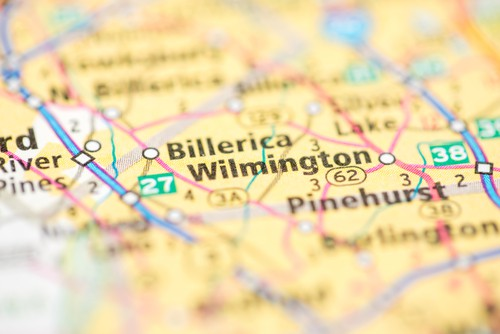 a map of Wilmington Massachusetts